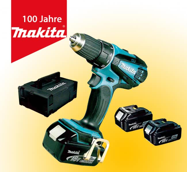 makita akku bohrschrauber ddf 456 rm3j set mit 3 akkus. Black Bedroom Furniture Sets. Home Design Ideas