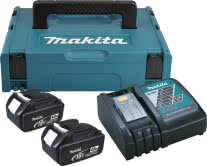 MAKITA Power Source KIT mit 2 x 4,0 Ah Akku und DC18RC