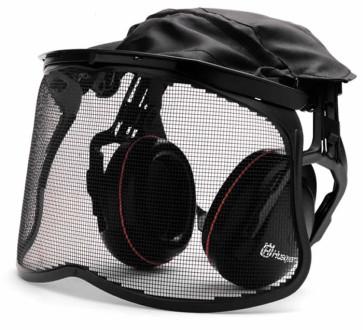 Gehörschutz mit Netzgittervisier