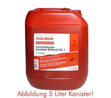 DOLMAR Hochleistungs-Zweitakt-Motoröl 50:1 5 Liter