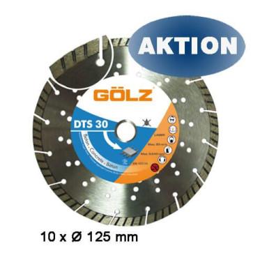 GÖLZ Diamanttrennscheibe DTS 30 125 mm für Beton 10 Stück