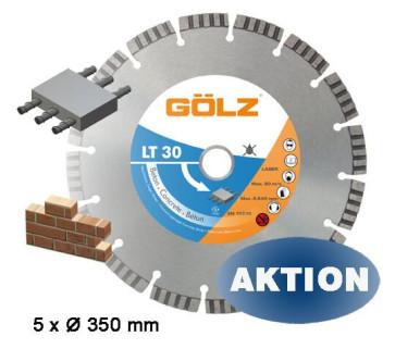 GÖLZ Diamanttrennscheibe LT 30 für Beton 5 Stück