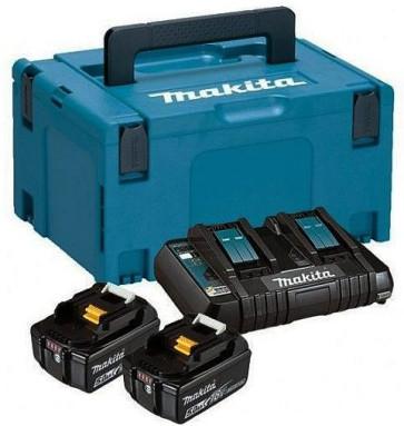 MAKITA Power Source KIT mit 2 x 5,0 Ah Akku und DC18RD