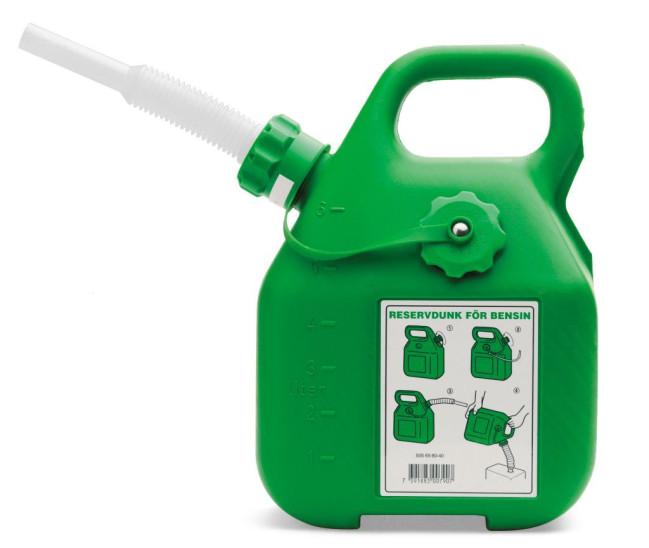 Underbar HUSQVARNA Benzinkanister grün 6 Liter portofrei im Shop kaufen MH-15
