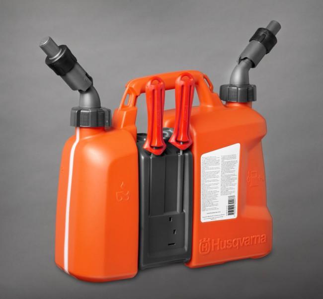 5 Liter Kanister >> HUSQVARNA Kombikanister Doppelkanister 5l/2,5l portofrei im Shop kaufen