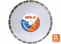 GÖLZ RX1S 350 mm Diamanttrennscheibe für Beton, Klinker, Ziegel
