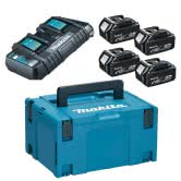 MAKITA Power Source KIT mit  4x Akku 5,0 Ah und DC18RD
