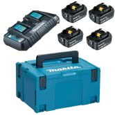 MAKITA Power Source KIT mit  4x Akku 6,0 Ah und DC18RD